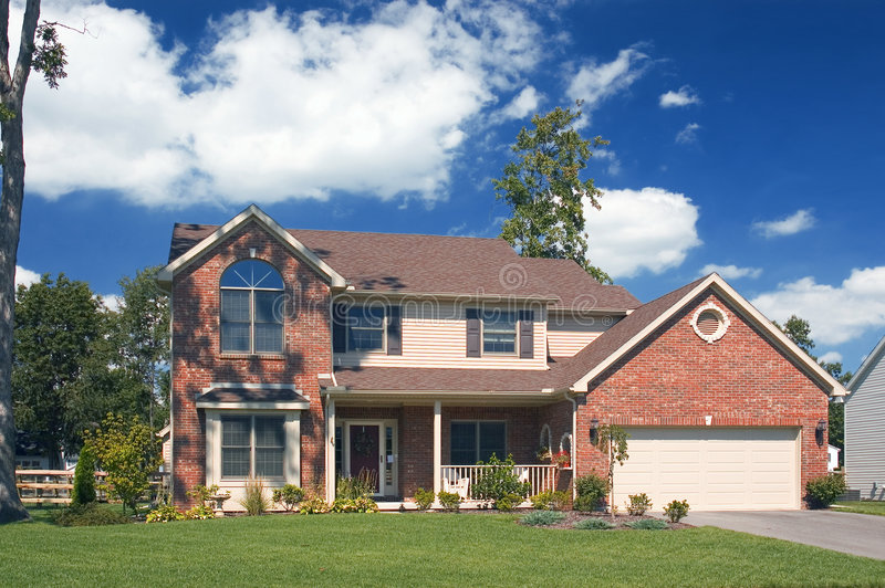 Beautiful Brick Home stock photo