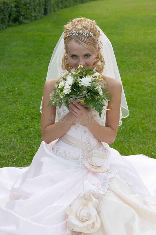 The beautiful bride. stock photos