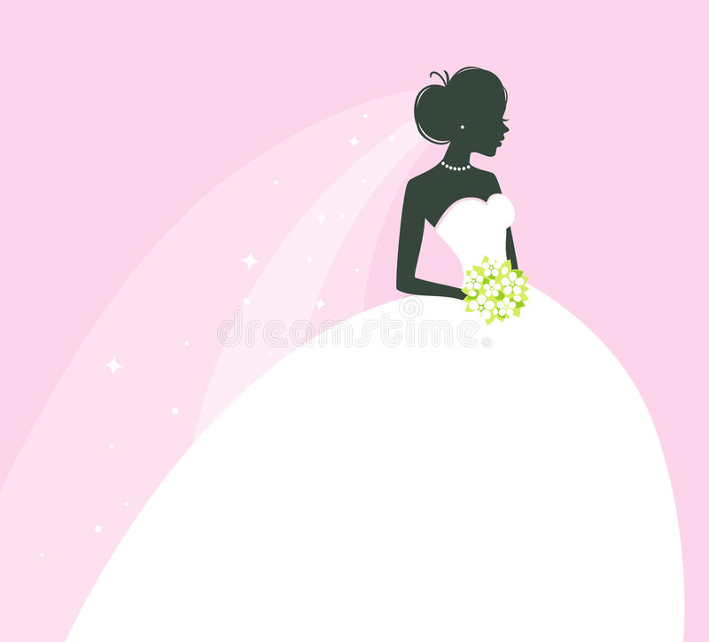 Beautiful bride royalty free illustration