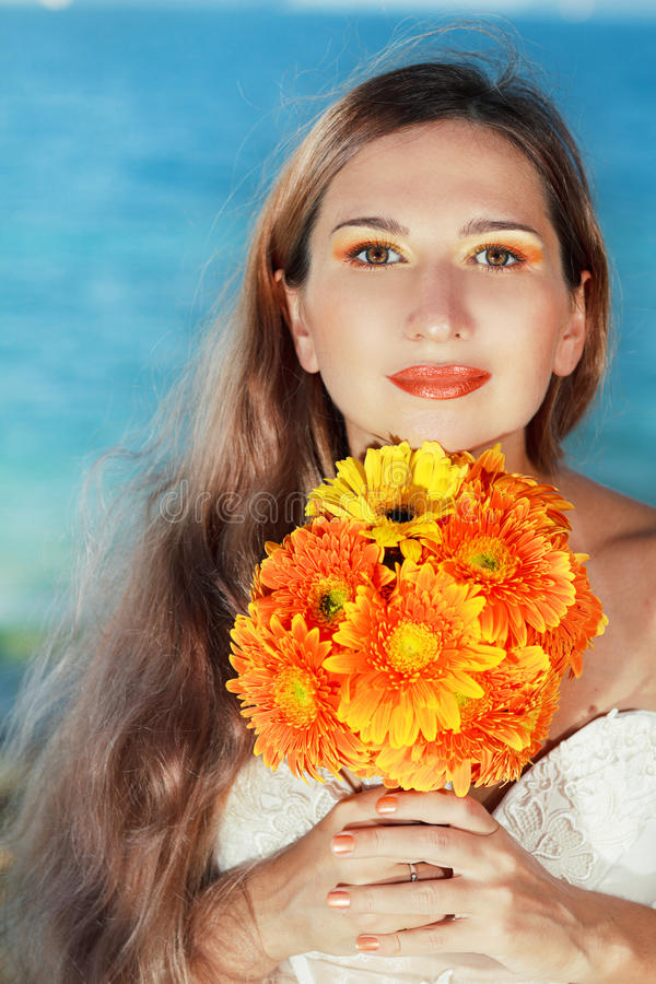 Download Beautiful bride stock photo. Image of married, engagement - 27772072