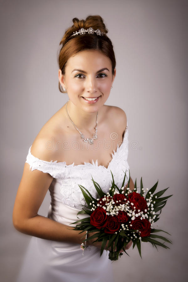 Download Beautiful bride stock image. Image of flowers, person - 27790743