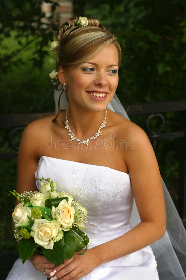Beautiful bride royalty free stock image