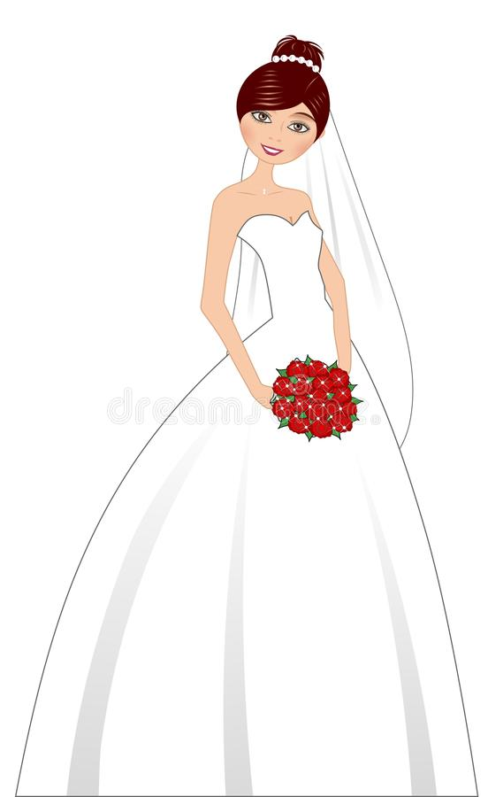 Download Beautiful Bride With Bouquet Stock Vector - Image: 24591805