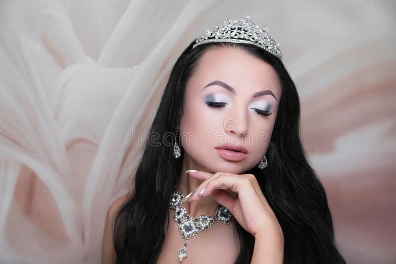 Woman beauty face bride style royalty free stock photography