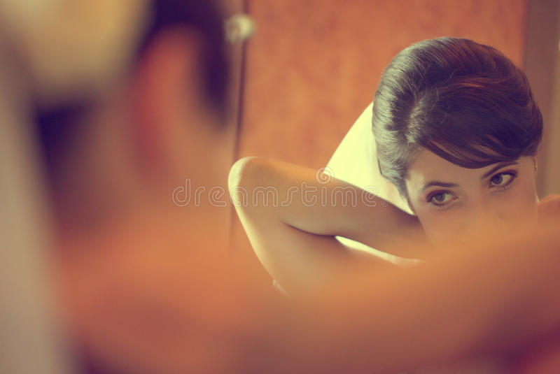 Download Beautiful Bride Getting Ready For Wedding Stock Image - Image: 41117777