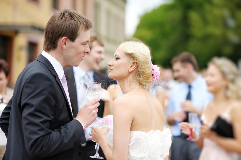 Download Beautiful bride and groom stock photo. Image of innocence - 27571414