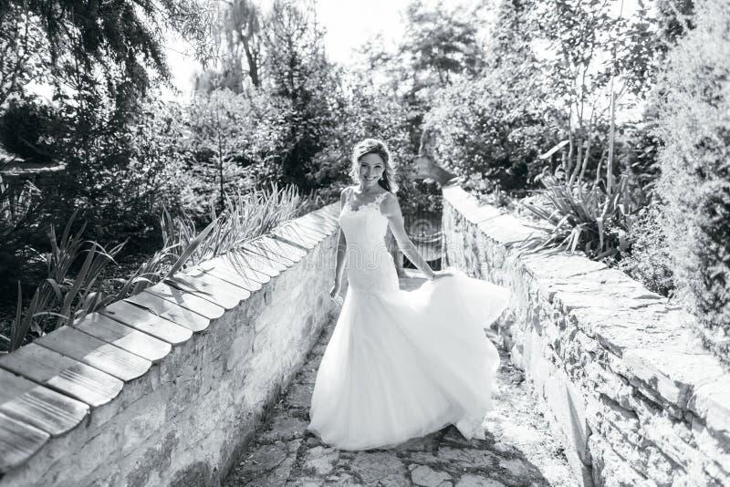 Download Beautiful Bride Having Fun In Nature Stock Photo - Image: 83721577