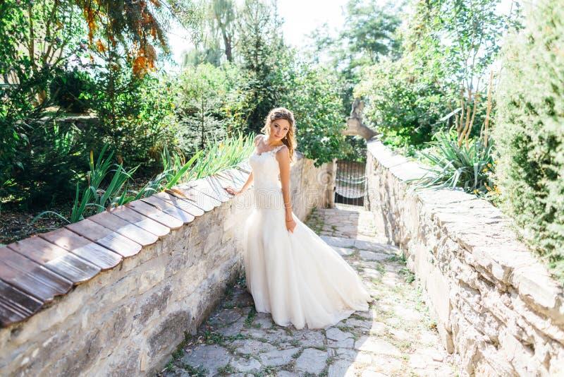 Download Beautiful Bride Having Fun In Nature Stock Photo - Image: 83721676