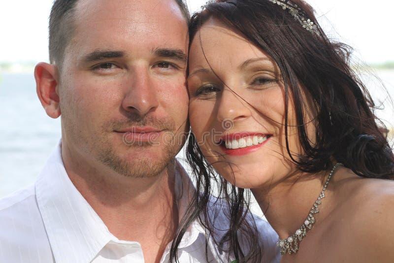 Download Beautiful Bride And Husband Headshot Stock Image - Image: 14851981