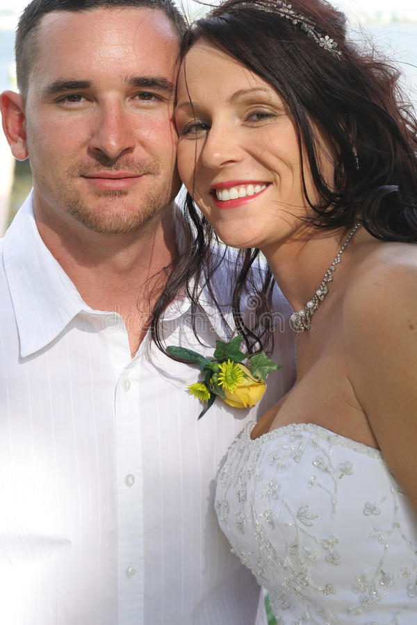 Download Beautiful Bride And Husband Headshot Vertical Stock Image - Image: 14851987