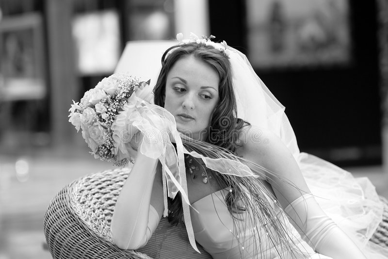 Beautiful Bride Portrait stock image