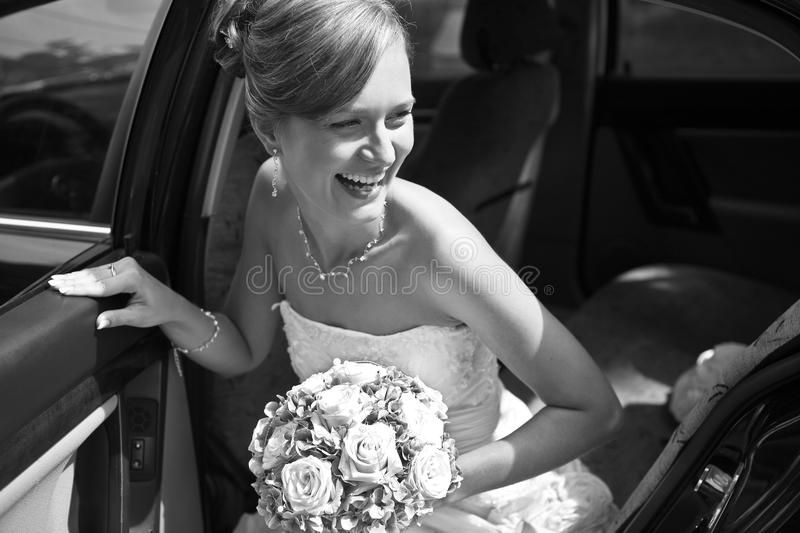 Beautiful bride retro royalty free stock photo