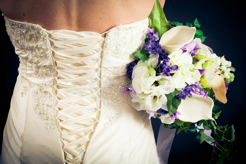 Beautiful Bride`s Back royalty free stock images