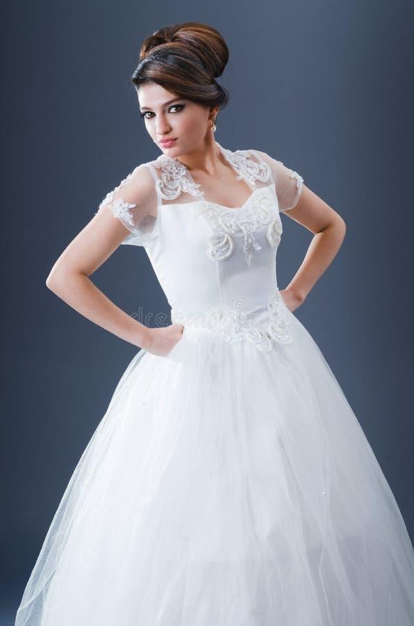 Beautiful Bride In Studio Royalty Free Stock Images