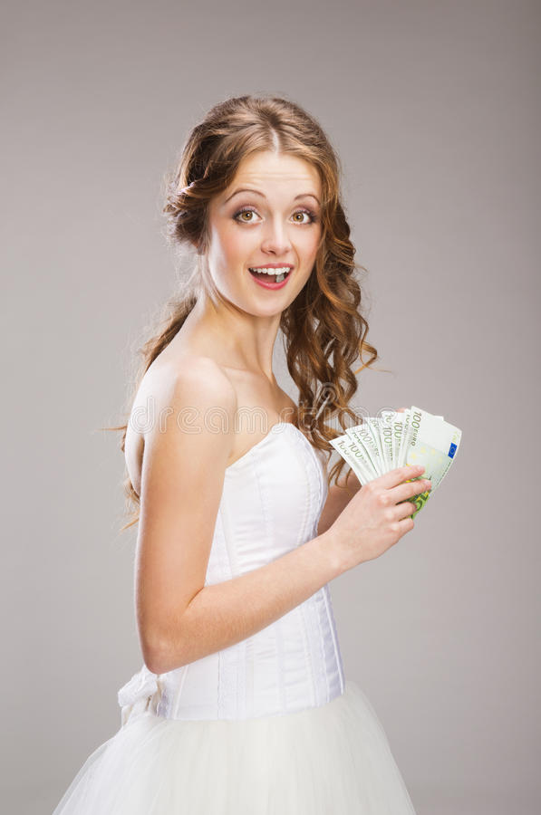 Download Beautiful Bride stock image. Image of cash, hair, isolated - 36596703
