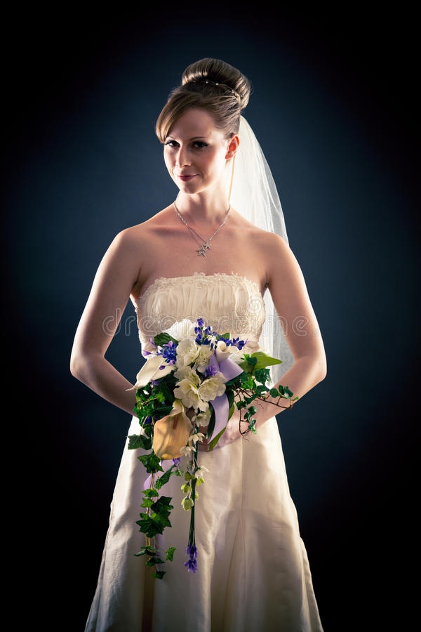 Beautiful Bride in Studio stock photos