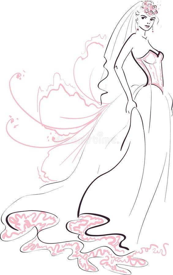 Download Beautiful Bride stock vector. Illustration of fiancee - 34245989