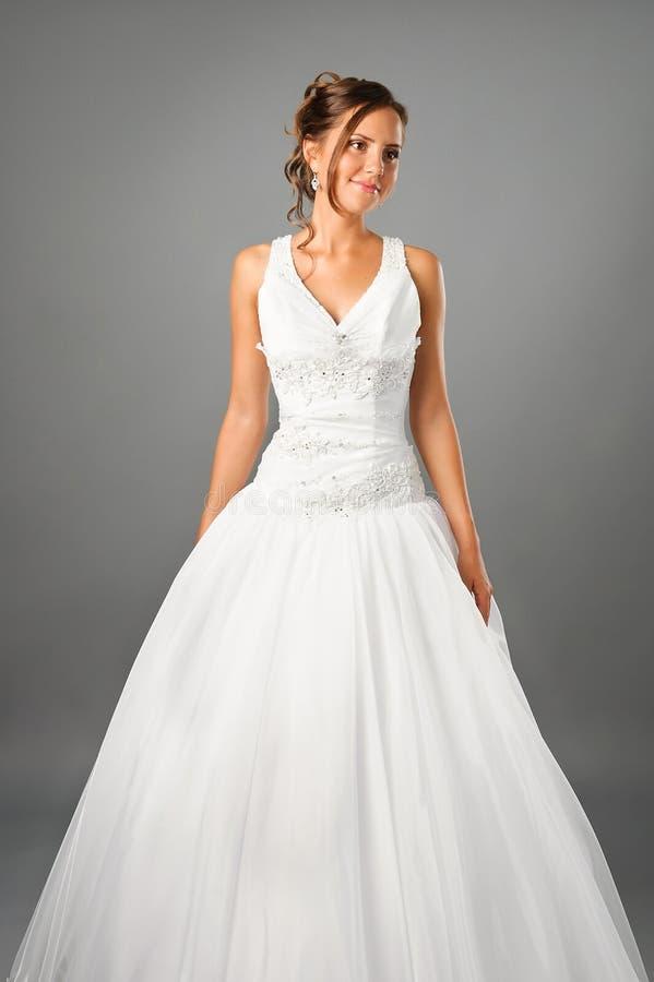 Download Beautiful Bride Wearing Wedding Dress In Studio Stock Image - Image: 20982119
