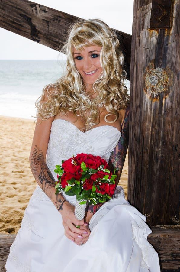 Download Beautiful Bride stock image. Image of ocean, beauty, flowers - 31900433
