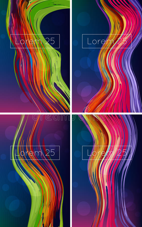Beautiful bright abstract backgrounds royalty free illustration