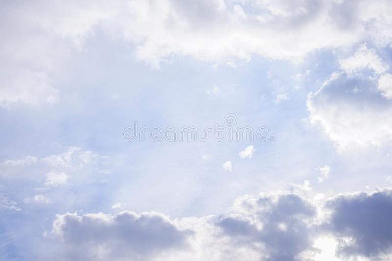 Beautiful bright clear blue sky with cloud stock photography