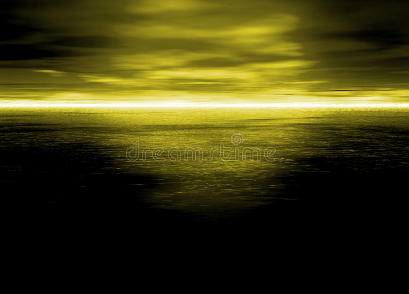 Download Beautiful Bright Electric Yellow Horizon Stock Illustration - Illustration of skyscape, sunset: 6086282
