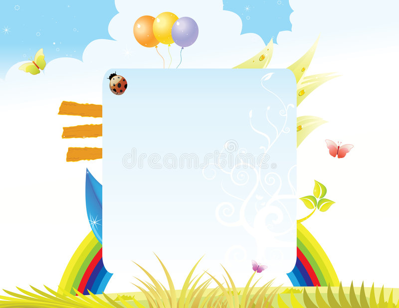 Download Beautiful Bright Summer Feeling Layout Stock Vector - Image: 9323530