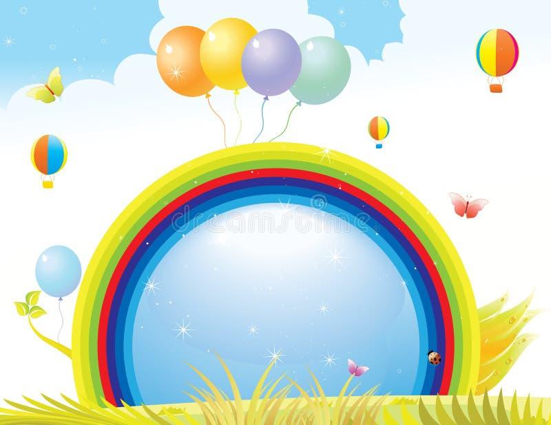 Beautiful bright summer feeling layout vector illustration