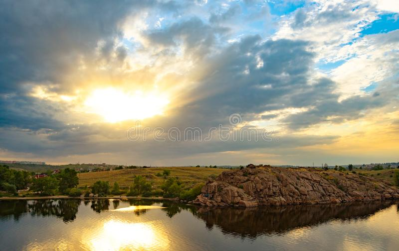 Beautiful Bright Sunset Sky royalty free stock images