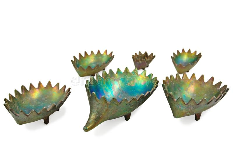Beautiful Bronze Hedgehog Statuette Royalty Free Stock Images