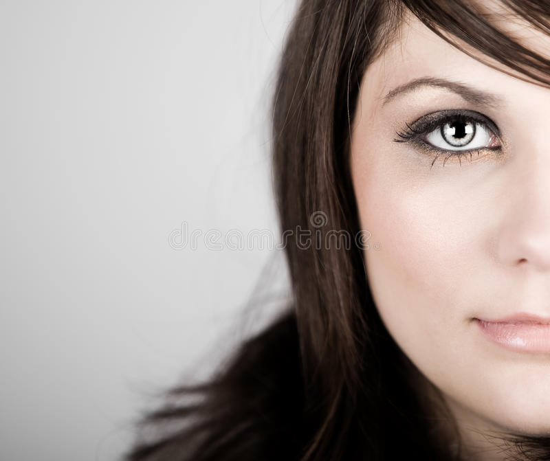 Beautiful Brown Haired Teenager stock photo