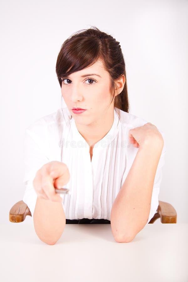Beautiful brown secretary stock photos