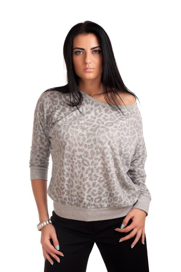 Download Beautiful brunette stock photo. Image of white, pretty - 28539202