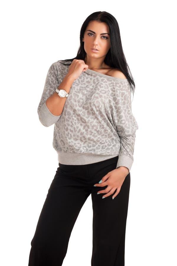 Download Beautiful brunette stock photo. Image of fashion, beauty - 28539222