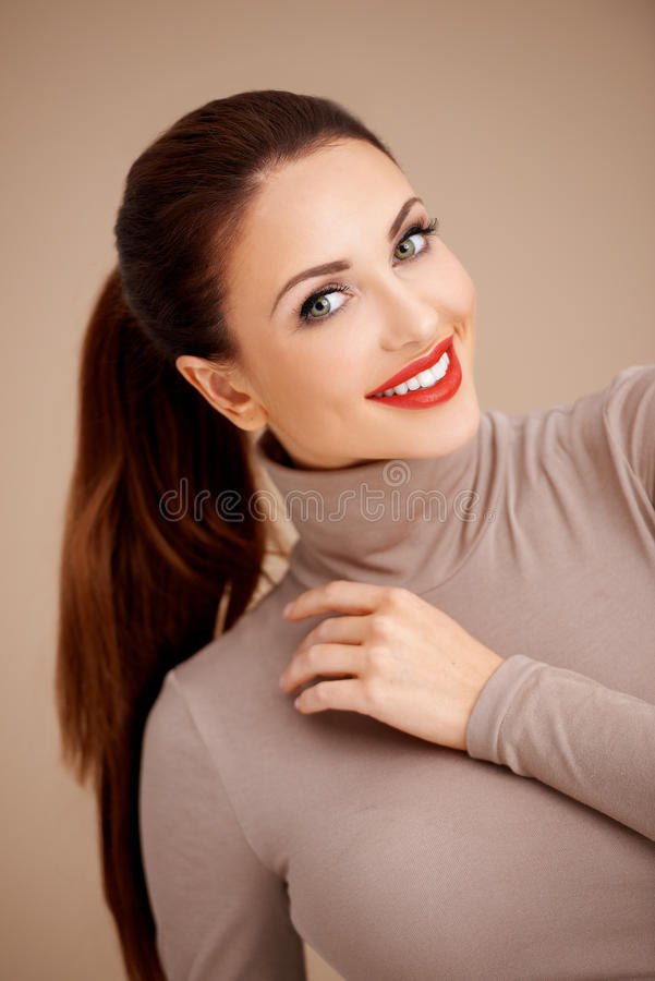 Download Beautiful brunette stock photo. Image of female, beauty - 28952802