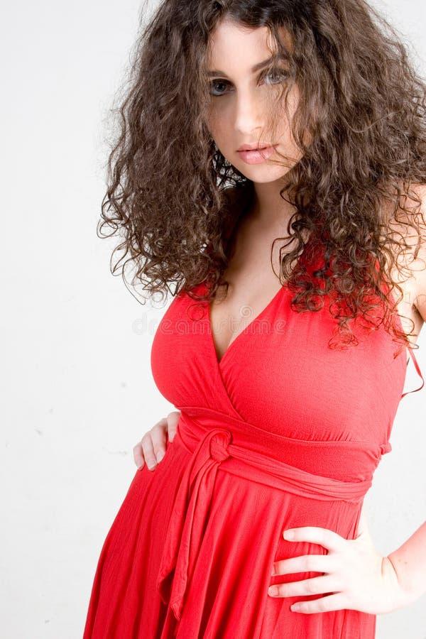 Beautiful Brunette Fashion Shot stock images