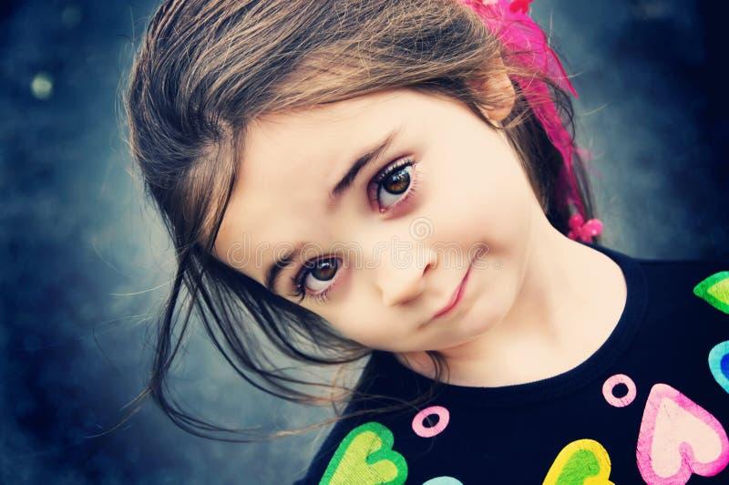 Download Beautiful Brunette Girl stock image. Image of close, profile - 12685589