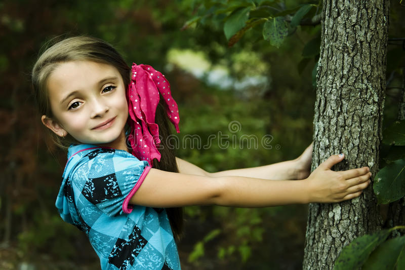 Beautiful Brunette Girl stock images