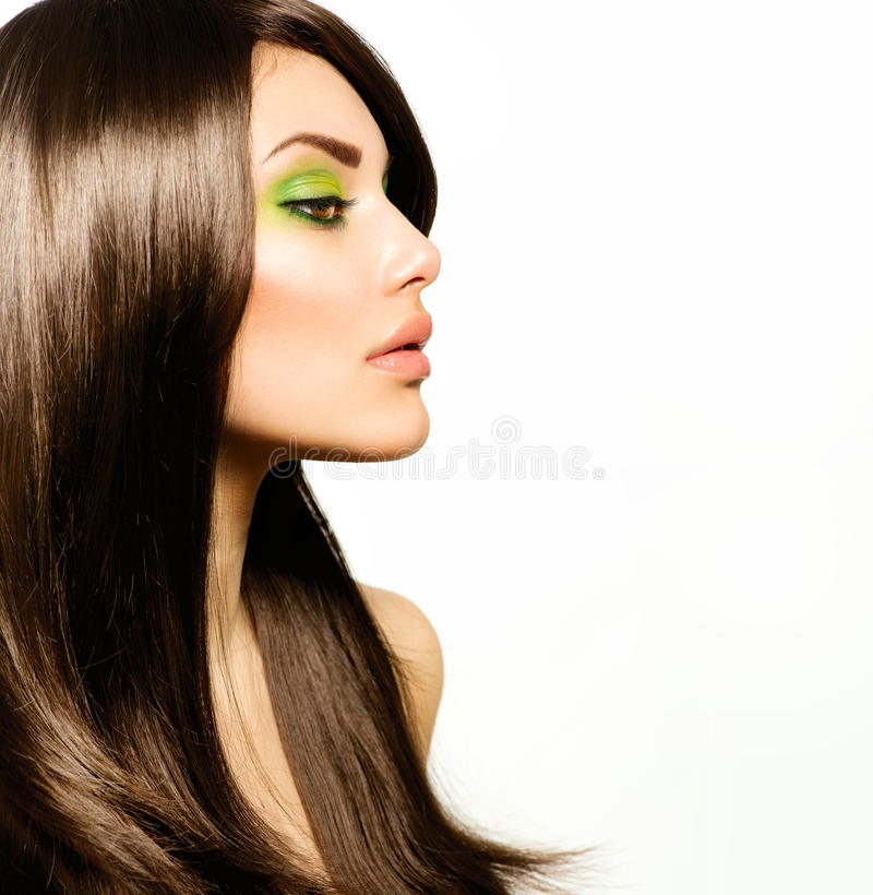 Download Beautiful Brunette Girl stock photo. Image of haircut - 30227898