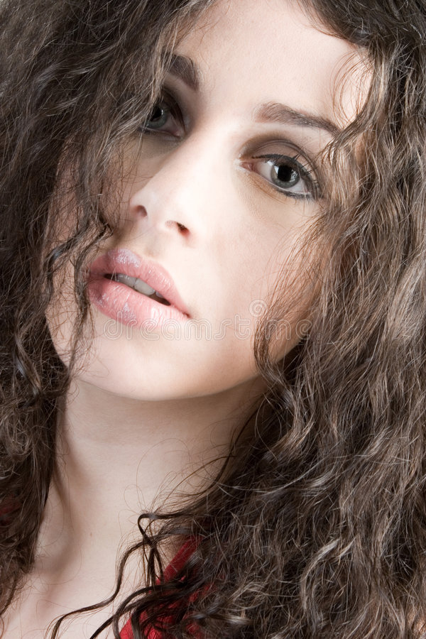 Download Beautiful Brunette Headshot Royalty Free Stock Images - Image: 1719839
