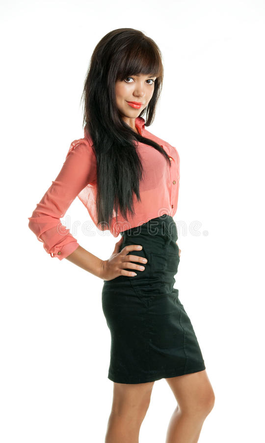 Download Beautiful Brunette Looking At The Camera Stock Photo - Image: 32241068