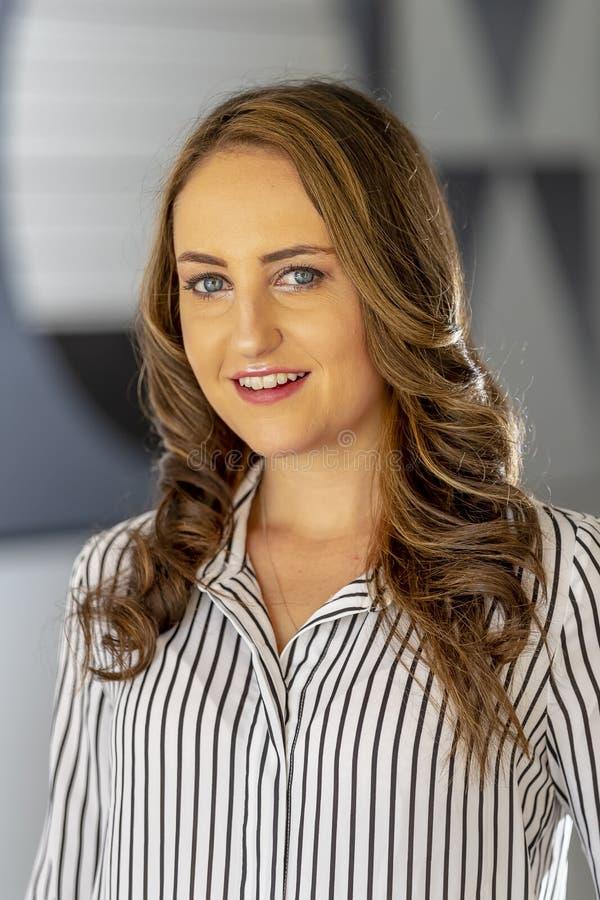 Lovely Brunette Model Posing At Home royalty free stock photo
