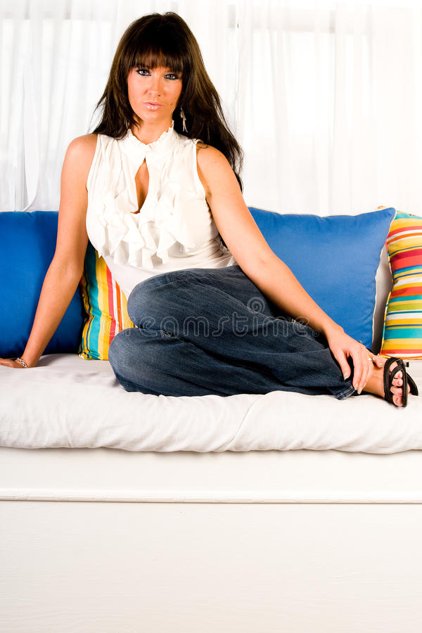 Download Beautiful Brunette Woman stock image. Image of studio - 10887137