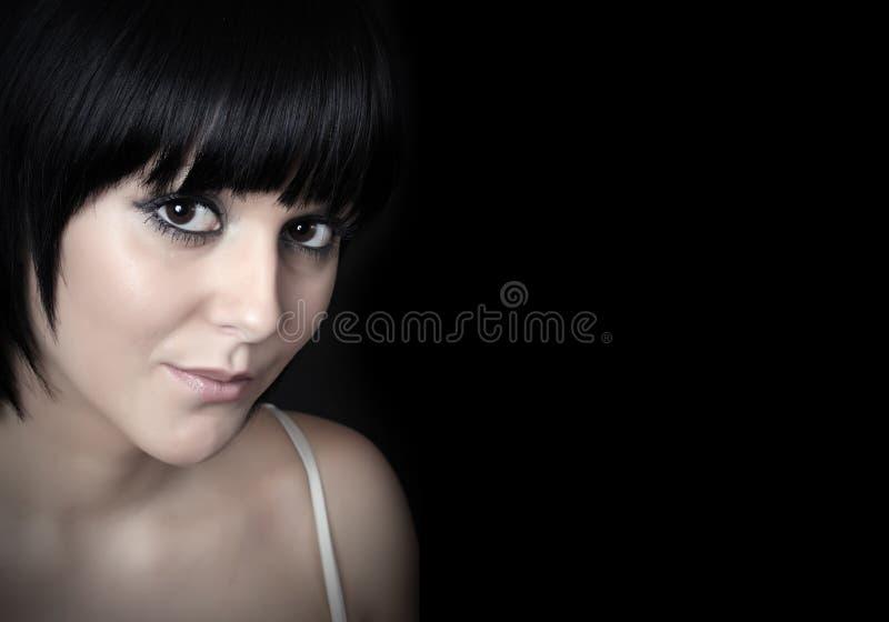 Beautiful brunette woman. . stock photo