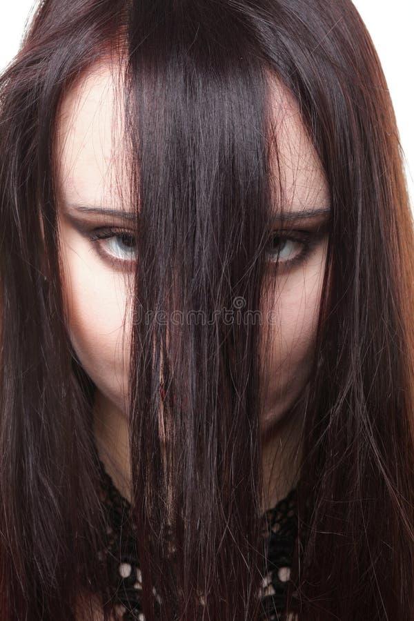 Beautiful Brunette Woman Long Hair Royalty Free Stock Photos