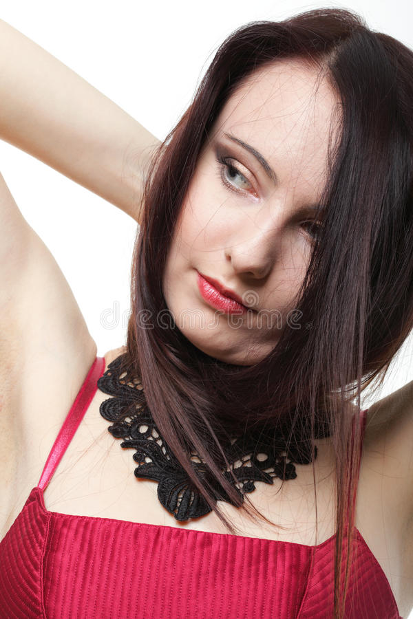 Download Beautiful Brunette Woman Long Hair Stock Image - Image of young, studio: 33734691