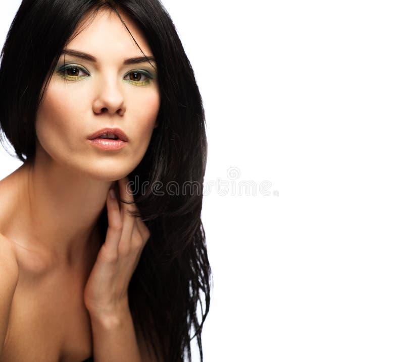 Beautiful brunette royalty free stock photos