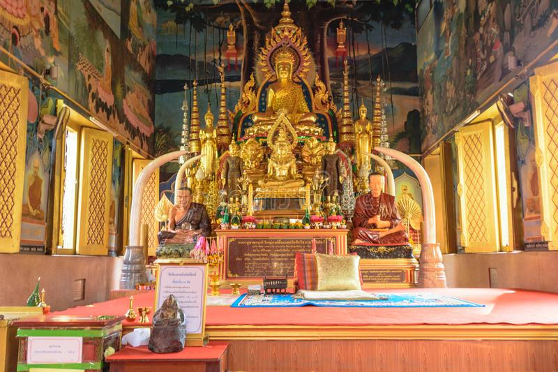 Beautiful Buddha images in the church stock photo