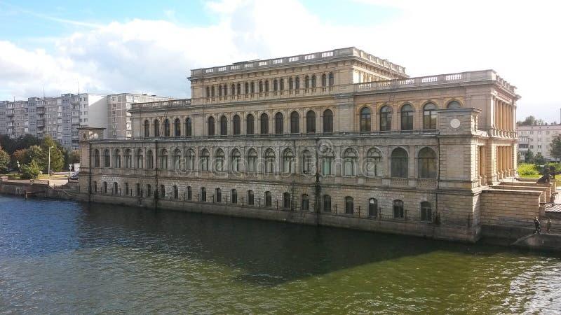 Beautiful building in the city of Kaliningrad.  stock photo