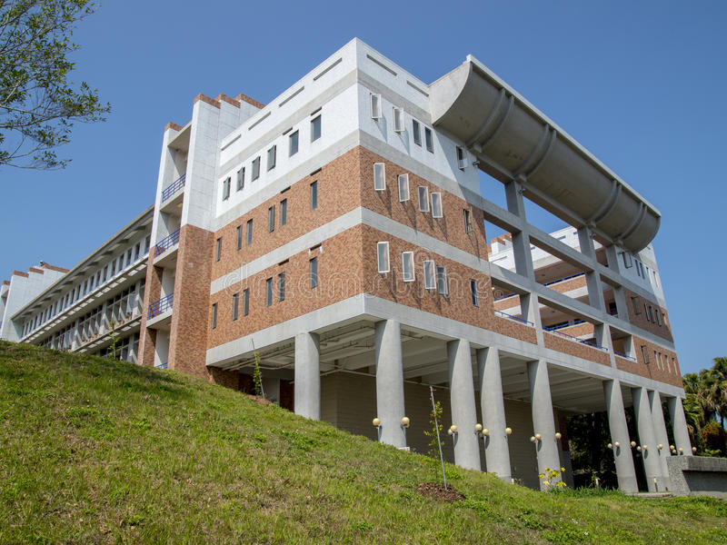 Beautiful building in Taiwan school royalty free stock image